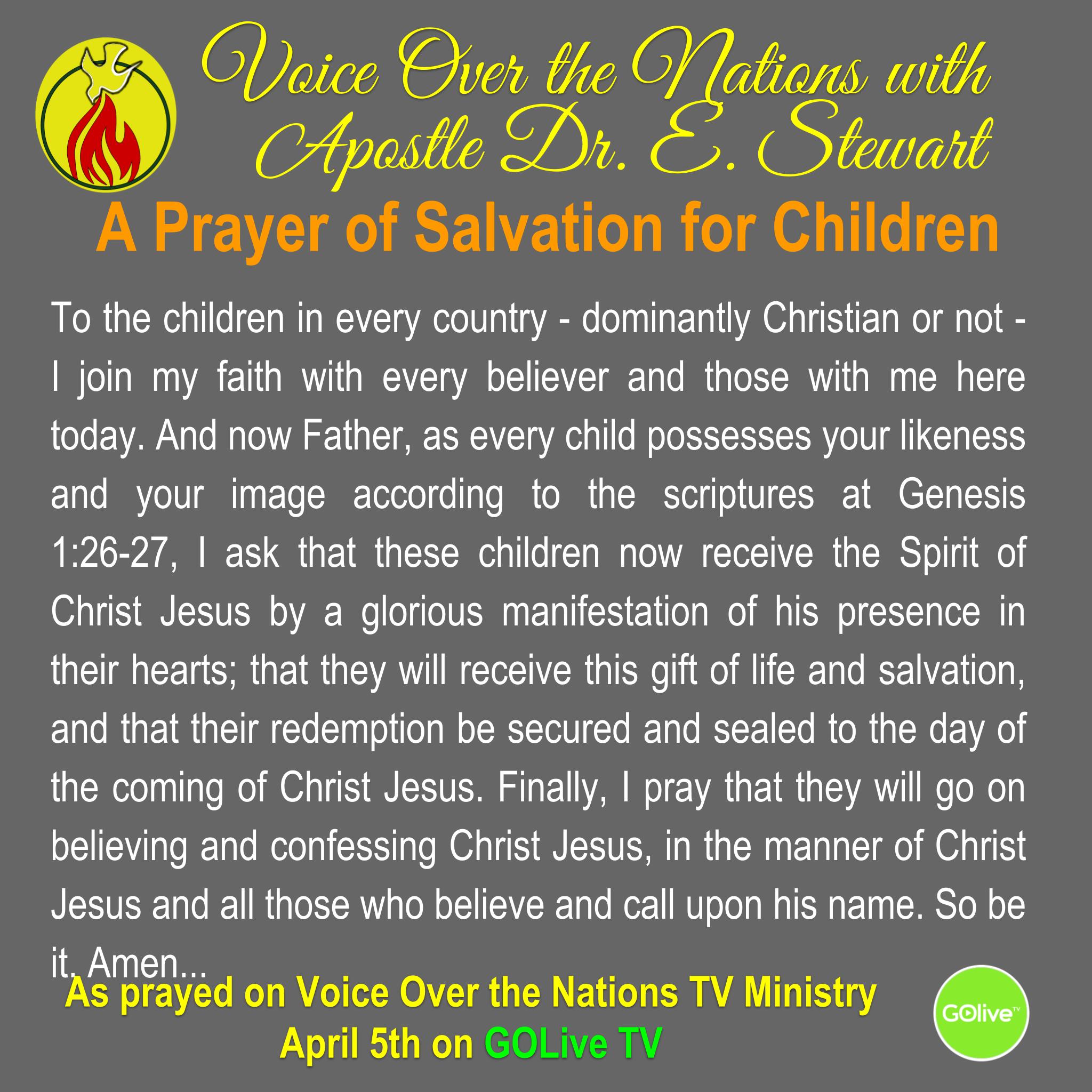 Prayer for Children - 20190405 SQ